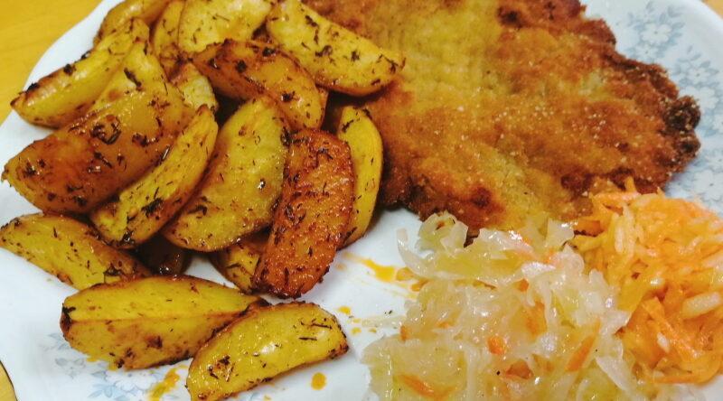 Ziemniaki pieczone z miodem i ziołami